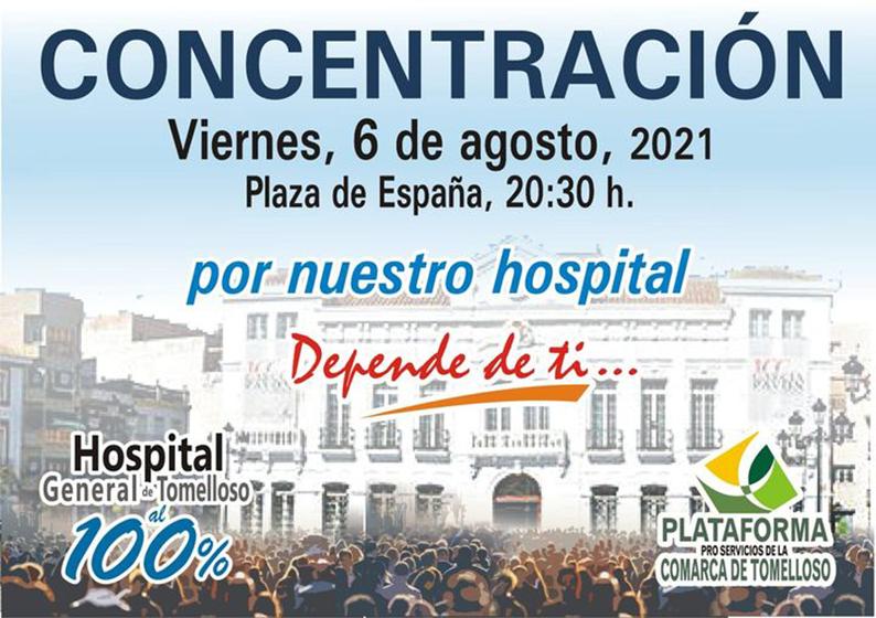 La Plataforma Pro Servicios de la Comarca de Tomelloso convoca una manifestación este viernes 6 de agosto en la Plaza de España de la localidad