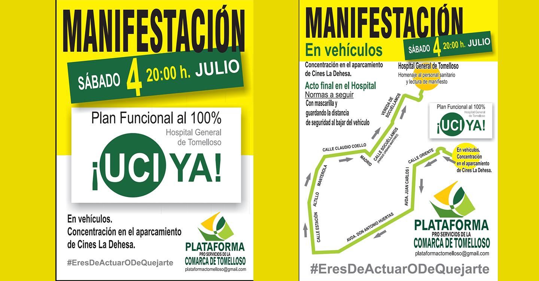 Convocada para el 4 de julio una manifestación por la UCI del Hospital de Tomelloso