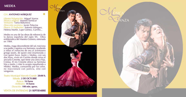 """Hoy martes 21, sale a la venta las entradas para obra de danza española """"Medea"""""""