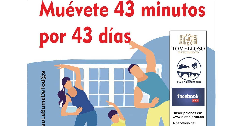 """""""Muévete 43 minutos por 43 días"""", el nuevo proyecto de fomento del deporte desde casa"""