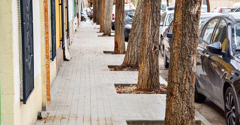 Reparados los acerados de calle Zurbarán de Tomelloso