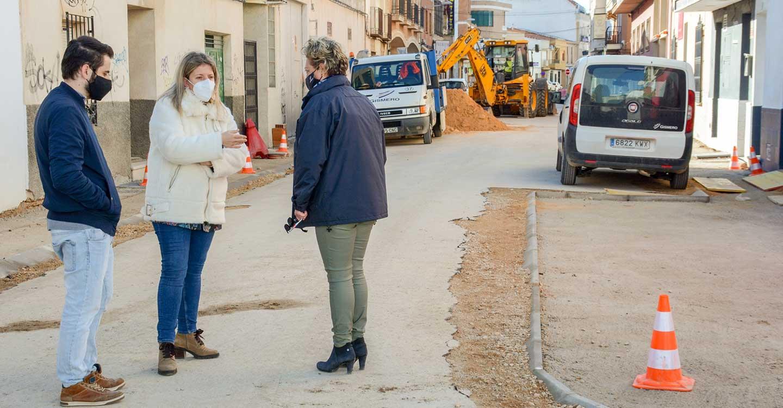 Las obras en Tomelloso de la remodelación de las calles Monte y Montesa continúan a buen ritmo