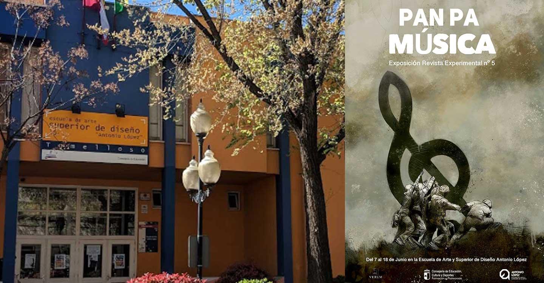 """La EASDAL de Tomelloso, inaugurará la exposición """"PAN PA MÚSICA"""" el lunes 7 de junio a las 11:00 horas en el hall del centro."""
