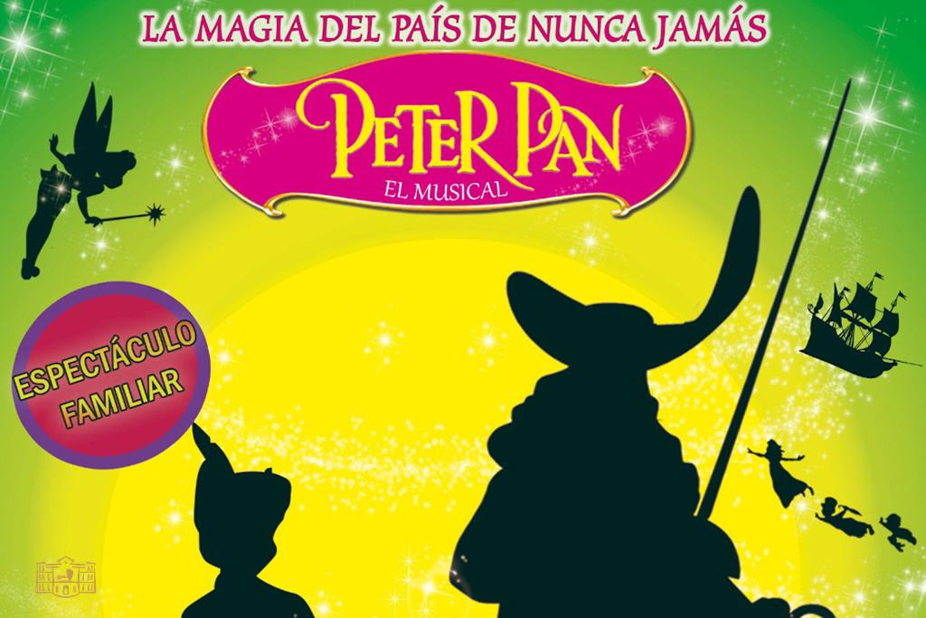 """El parque de la Constitución de Tomelloso acogerá el domingo el espectáculo musical infantil """"Peter Pan, la magia del País de Nunca Jamás"""""""