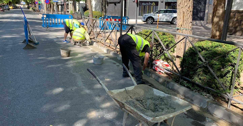 Comienza el Plan Extraordinario de Empleo de Zonas Rurales Deprimidas en Tomelloso con obras de mejora en Avenida D. Antonio Huertas