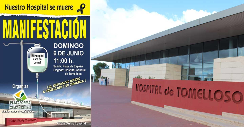 La Plataforma Pro Servicios de la Comarca de Tomelloso convoca una manifestación el día 6 de junio