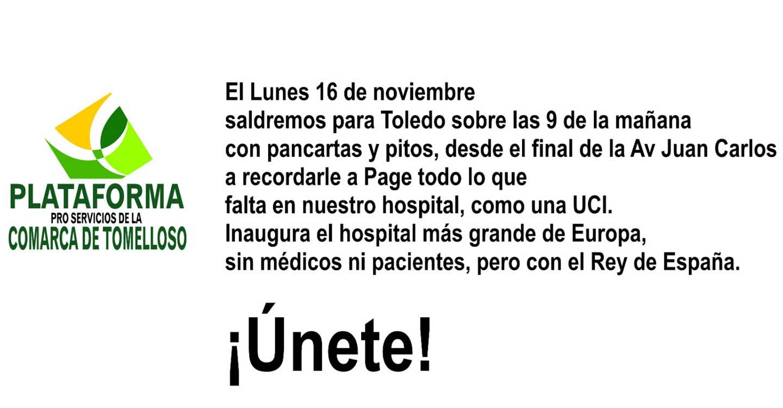 Una marcha a Toledo para reivindicar la UCI en el Hospital de Tomelloso