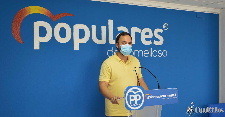 """Javier Navarro: """"El PP de Tomelloso no puede apoyar unos presupuestos en los que no se refleja ni un solo euro a la reactivación comercial y ni un solo euro al apoyo de pymes y autónomos"""