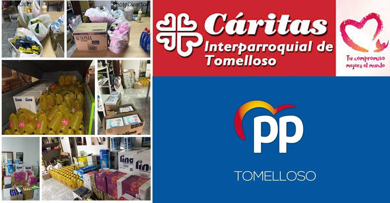 El Grupo Popular de Tomelloso realiza una donación de 4.345 unidades de productos de higiene personal y de hogar a Cáritas.