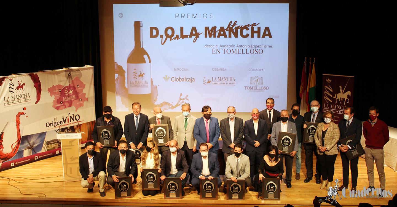 DO La Mancha entrega sus premios 'Vino y Cultura 2021' en una brillante edición celebrada en Tomelloso