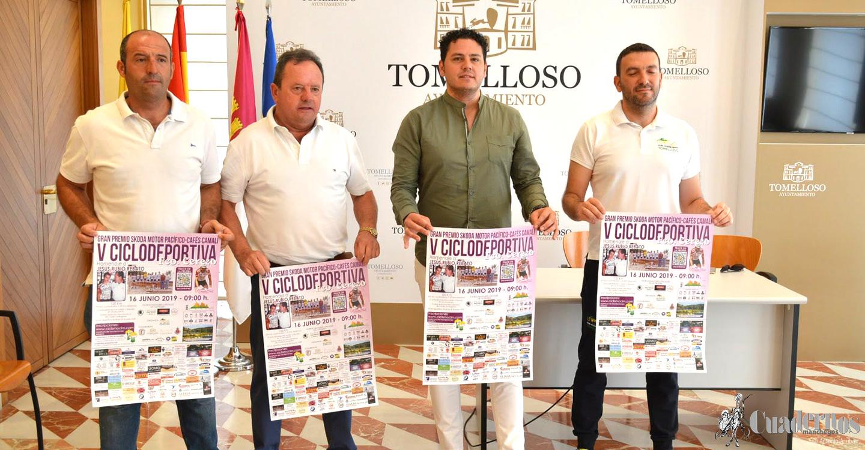 """Presentada la """"V Ruta Ciclista Francisco Cerezo"""", organizada por el Club Ciclista Sport Tomelloso cuya celebración será el domingo 16 de junio."""