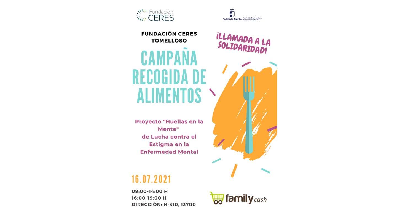 Fundación Ceres, de Tomelloso, organiza mañana día 16 de julio una gran recogida de alimentos