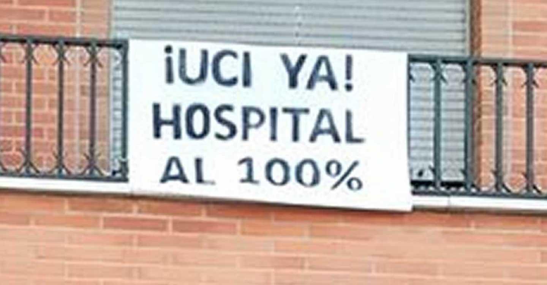 ¿Dónde puedes recoger las pancartas para la manifestación por la UCI del Hospital de Tomelloso este 4 de julio?