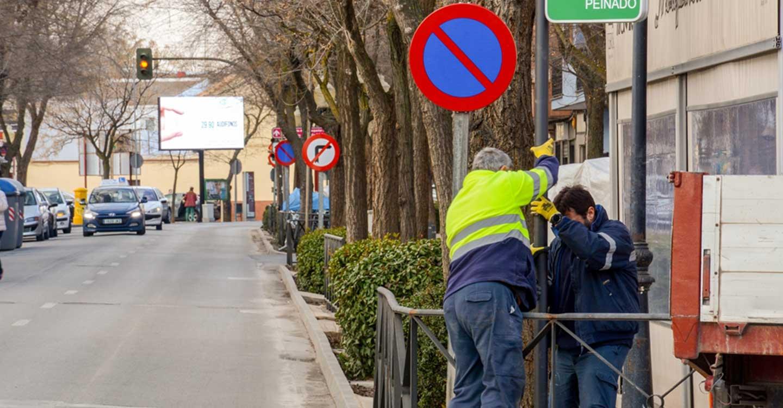 Renovada la señalización de calles de la avenida Don Antonio Huertas de Tomelloso