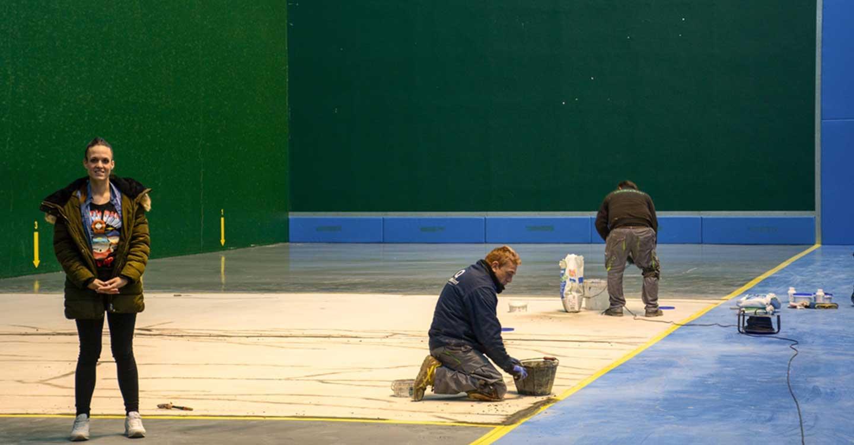 En una semana estará lista la reparación del frontón del pabellón cubierto de Tomelloso