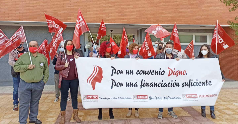 CCOO y las/os trabajadores/as de la residencia 'Don Quijote' de Tomelloso reclaman al Grupo Amavir que presione a la patronal de la que es parte para desbloquear el convenio colectivo