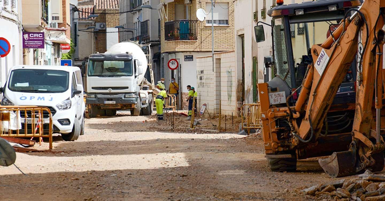 Se retoman las obras de las calles Palma y Azucena del municipio de Tomelloso