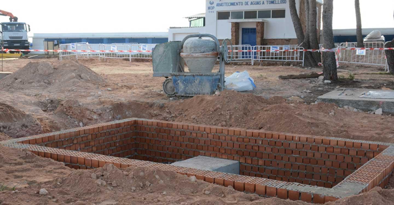 Se retoman las obras de la ETAP en los depósitos de Santa María