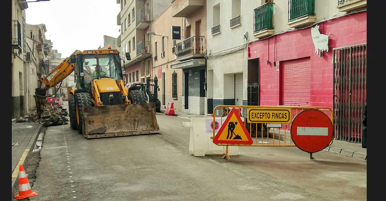 Reubicados los contenedores de basura del tramo de calle Monte afectado por las obras en la localidad de Tomelloso
