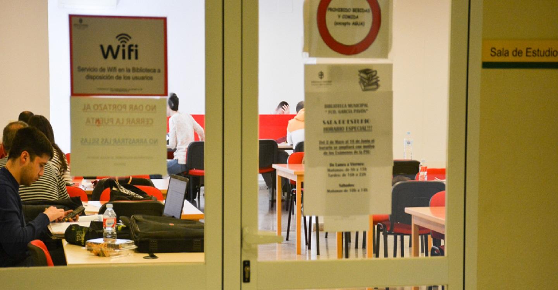 La sala de estudio de la Biblioteca municipal de Tomelloso estrena horario ininterrumpido de lunes a viernes