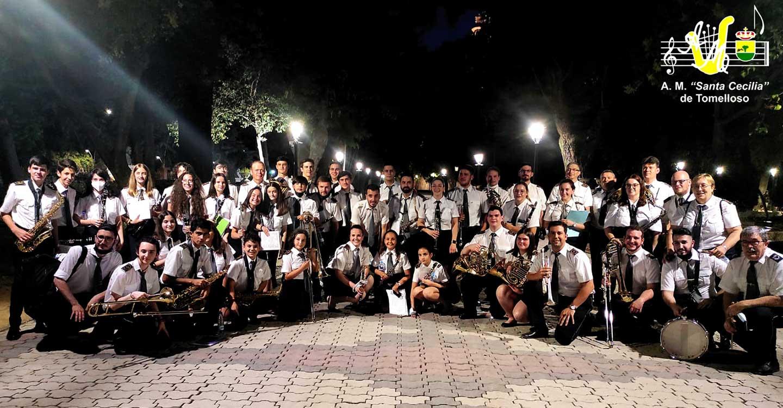 """Integrantes de la Banda de Música de la Asociación Musical """"Santa Cecilia"""" de Tomelloso se desplazaron a Talavera de la Reinapara participar como banda invitada en el XX Festival de Bandas de Música """"Salvador Ruiz de Luna"""""""