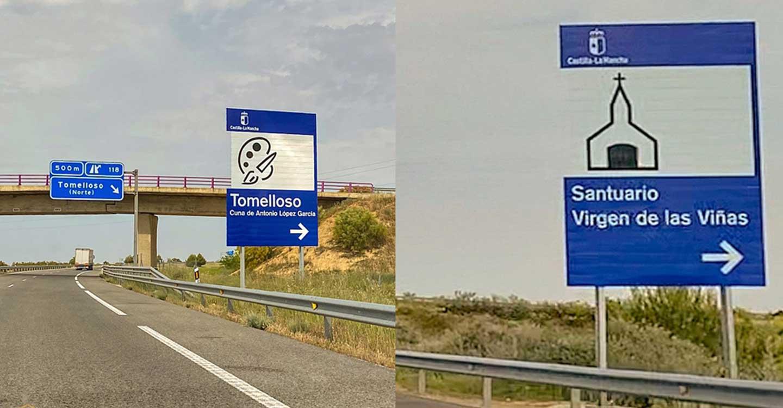 El Ayuntamiento de Tomelloso refuerza el interés del municipio con nueva señalización en la autovía de Los Viñedos