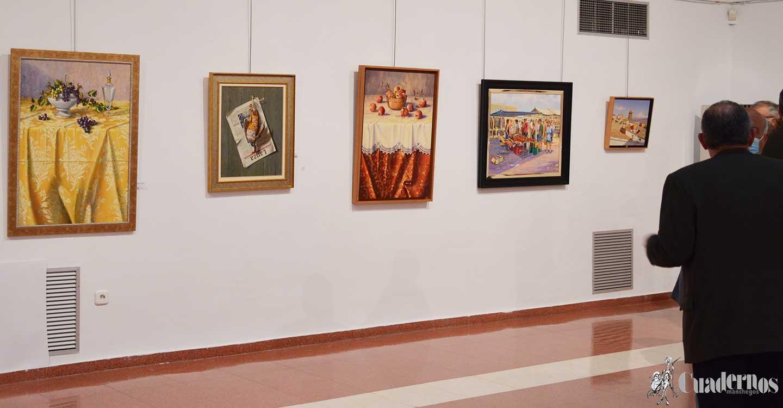 Inaugurada la exposición de pintura de Serafín Herizo en el Museo López Torres de Tomelloso