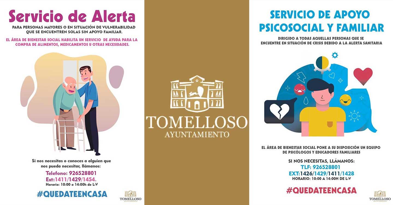 El Ayuntamiento de Tomelloso pone en marcha dos nuevos servicios para personas en situación de vulnerabilidad por la crisis del COVID-19