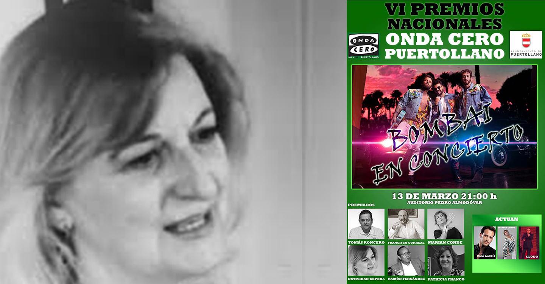 Onda Cero Puertollano premia a Natividad Cepeda Serrano por su ingente producción poética y su trabajo de escritora y columnista.
