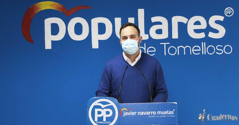 """Javier Navarro : """"Los autónomos y empresarios de Tomelloso lo que no quieren son ayudas sino que lo que realmente quieren es poder trabajar y para ello necesitan que las administraciones les apoyen"""""""