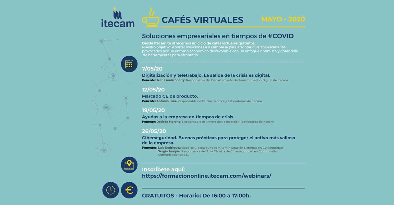 """ITECAM inicia el ciclo de """"Cafés Virtuales"""" bajo el nombre de """"Soluciones empresariales en tiempos de #COVID"""""""