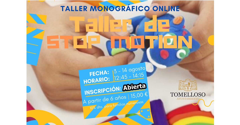 """Abierto el plazo de inscripción para el taller on-line """"Stop Motion"""" que organiza el Ayuntamiento de Tomelloso"""