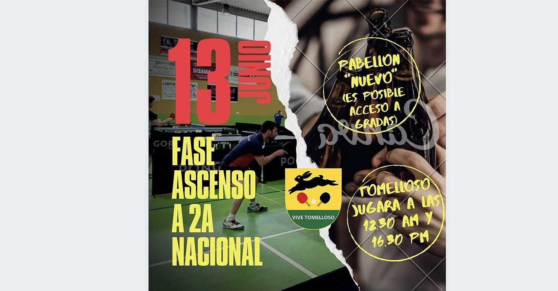 Tomelloso celebra este domingo la fase de ascenso a 2a División Nacional de Tenis de Mesa