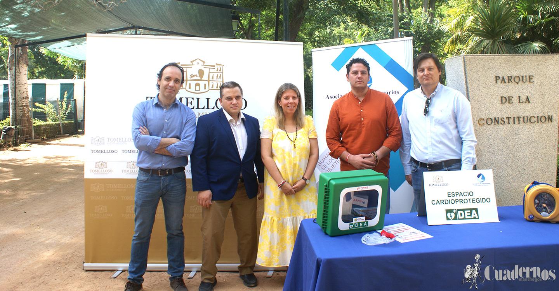 """Ayuntamiento y Asociación de Empresarios continúan avanzando para convertir a Tomelloso en la primera """"Ciudad Cardioprotegida"""" de la región"""