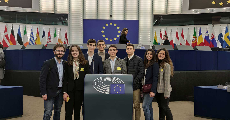 Tomelloso y La Mancha, escuchados en el Parlamento Europeo gracias al IES Eladio Cabañero