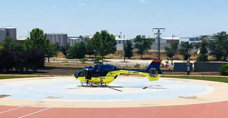Trasladan a un menor en helicóptero desde el hospital de Tomelloso al hospital La Paz de Madrid