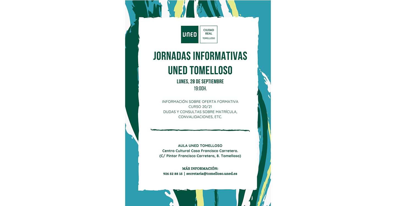 El Aula de la UNED en Tomelloso acogerá este próximo lunes unas Jornadas Informativas