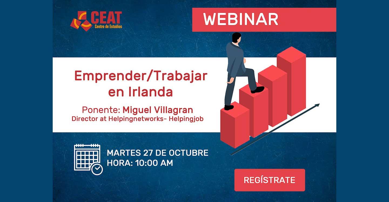 """CEAT de Tomelloso impartirá el seminario web : """"Trabajar en Irlanda. Guía Básica"""""""