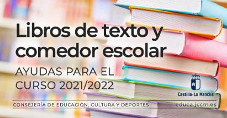 Publicada la convocatoria de ayudas para uso de libros de texto y de comedor escolar para el Curso 2021/2022