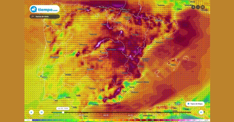 Borrasca Karine: el viento alcanzará esta mañana la máxima intensidad