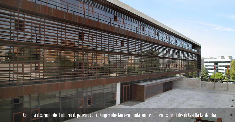Continúa descendiendo el número de pacientes COVID ingresados tanto en planta como en UCI en los hospitales de Castilla-La Mancha