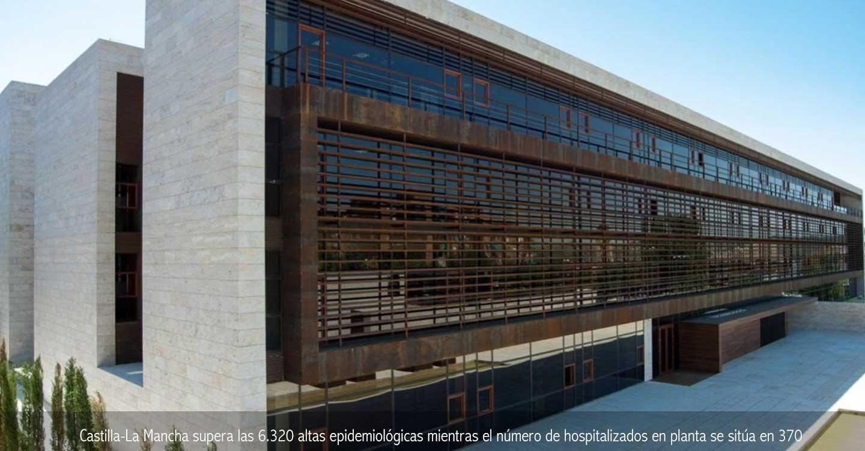 Castilla-La Mancha supera las 6.320 altas epidemiológicas mientras el número de hospitalizados en planta se sitúa en 370