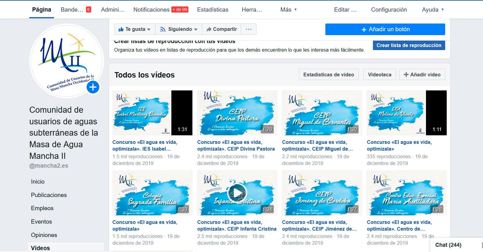 """Los vídeos del I Concurso Escolar 'El agua es vida. Optimízala' alcanzan cifran """"espectaculares"""""""