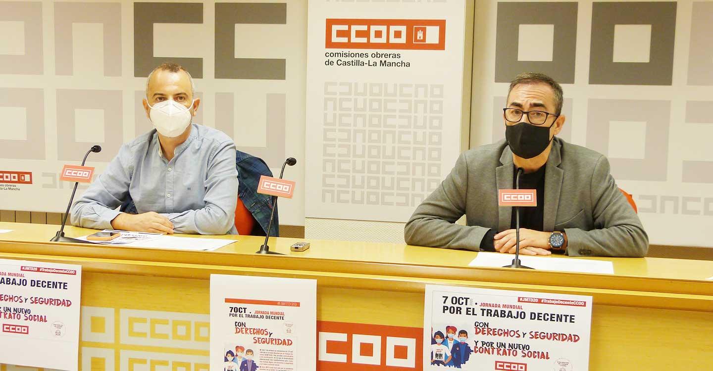 CCOO CLM reivindica el papel central del trabajo decente y el diálogo social en la recuperación y en la construcción de una nueva economía que priorice a las personas