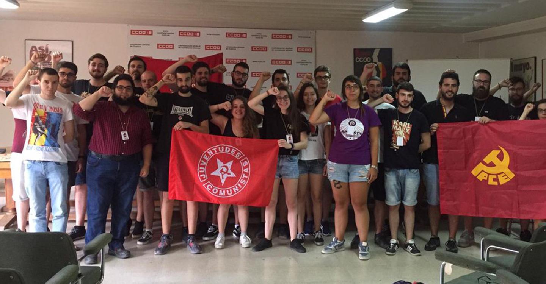 Celebración de la VI Conferencia de la Juventud Comunista en Castilla-La Mancha