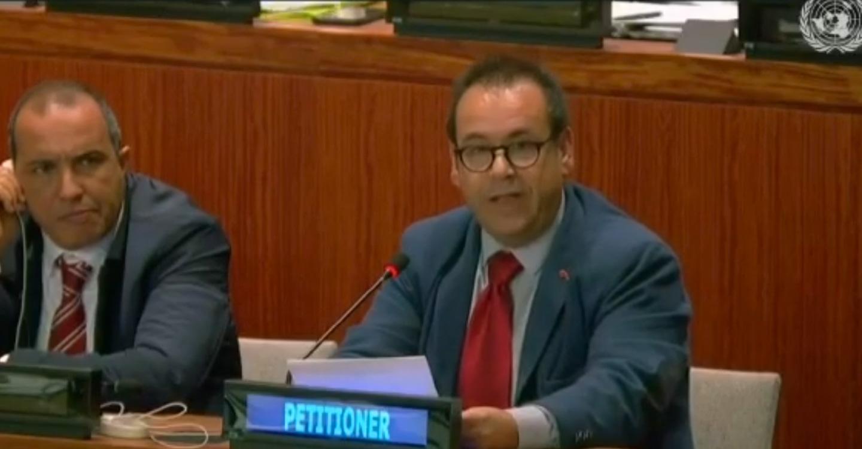 Crespo exige una solución a la cuestión del pueblo saharaui en las Naciones Unidas