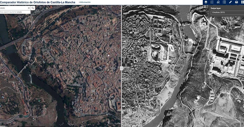 El comparador histórico de ortofotos, del Portal de Mapas de Castilla-La Mancha, tendrá el vuelo aéreo rectificado realizado durante el año 2018