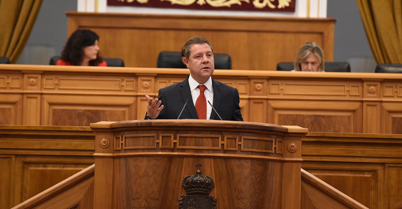 El presidente García-Page plantea una legislatura para Castilla-La Mancha basada en la cohesión, la competitividad y la sostenibilidad