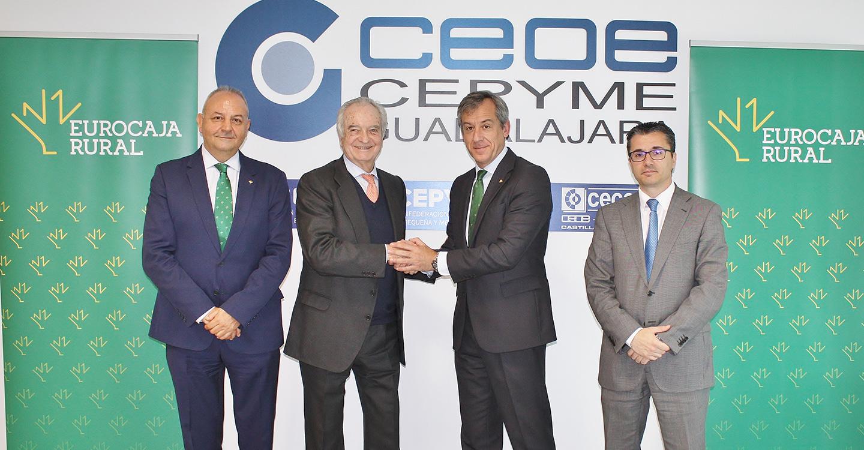 Eurocaja Rural y CEOE-CEPYME Guadalajara renuevan su apuesta por el desarrollo y crecimiento empresarial
