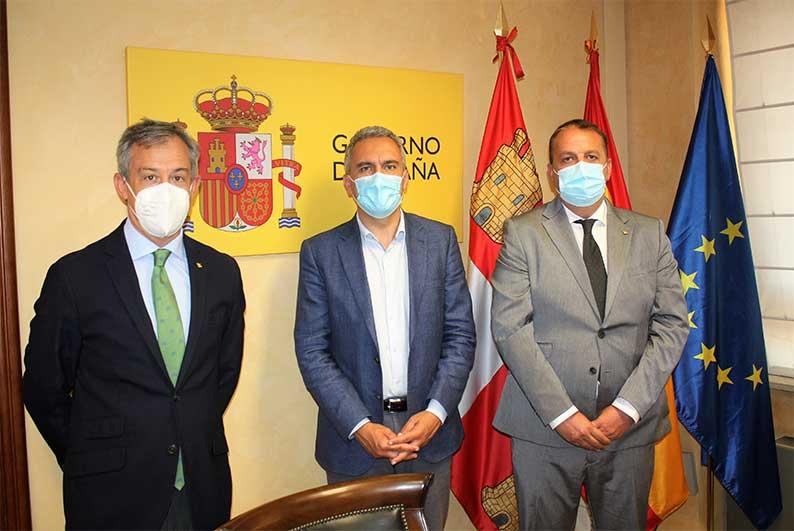 Eurocaja Rural transmite al delegado del Gobierno en Castilla y León su complicidad y servicio en beneficio del desarrollo del territorio
